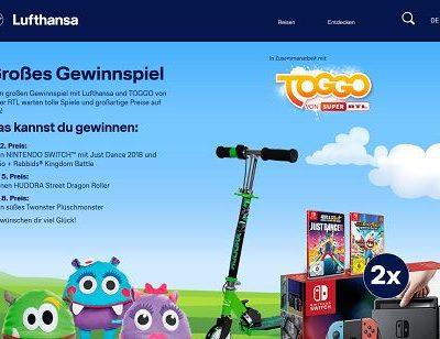Lufthansa Gewinnspiel Toggo Nintendo Switch