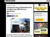 Männersache Gewinnspiel Sony Playstation Pro