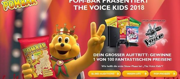 Pom-Bär Gewinnspiel The Voice Kids 2018