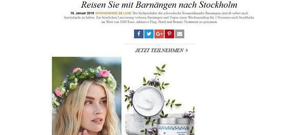 Vogue Gewinnspiel Stockholm Reise 2018