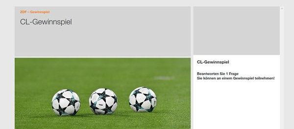 ZDF Champions League Gewinnspiel Kreuzfahrt