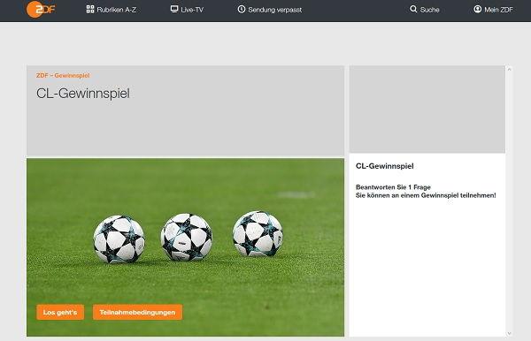Zdf Fussball Live Gewinnspiel