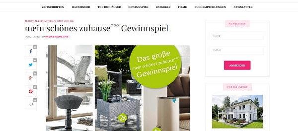 Mein Schönes Zuhause Zeitschrift mein schönes zuhause gewinnspiel luftreiniger und terrassenbrunnen