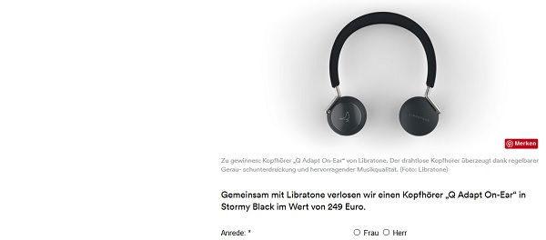 AD Magazin Gewinnspiel Libratone Kopfhörer
