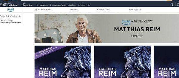 Amazon Gewinnspiel Matthias Reim Konzert Tickets und Reise