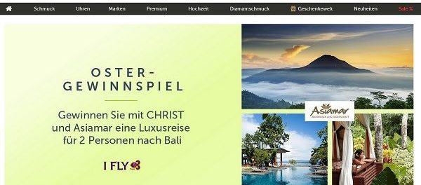 Christ Oster-Gewinnspiel 2018 Bali Reise