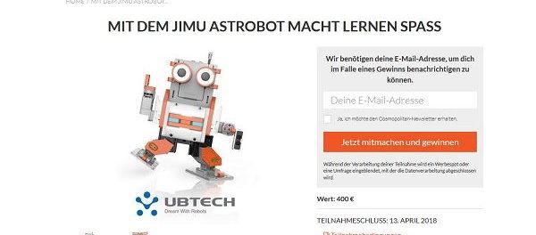 Cosmopolitan Gewinnspiel Jimu Astrobot Lernroboter