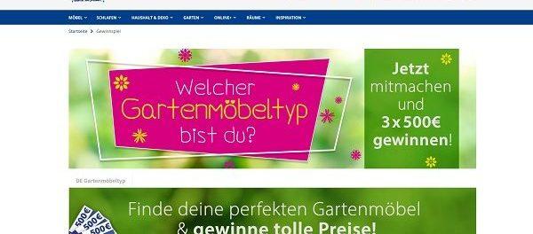 Dänisches Bettenlager Gewinnspiel Gartenmöbel 2018