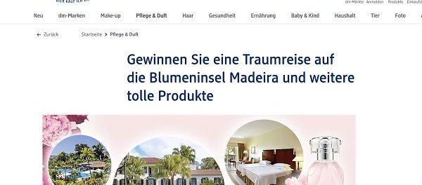 DM Drogerie Gewinnspiel Betty Barclay Madeira Reise 2018