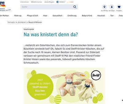 DM Gewinnspiel Steiff Osterhasen