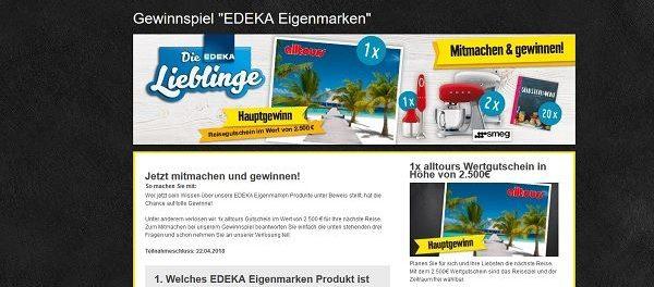 EDEKA Gewinnspiel Lieblingsmarken Reise Gutschein