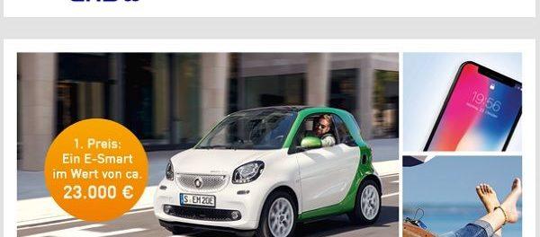 ENBW Auto Gewinnspiel E-Smart 2018