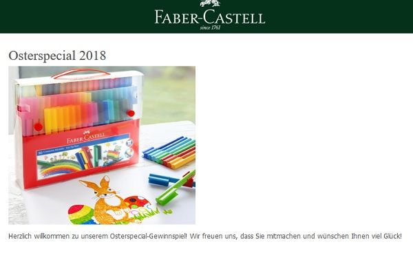 Faber Castell Gewinnspiel