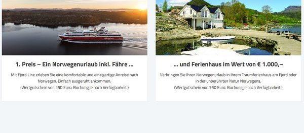 Ferienhaus Norwegen Reise Gewinnspiel