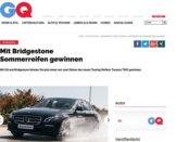 GQ Magazin Gewinnspiel Bridgestone Sommerreifen Sets 2018