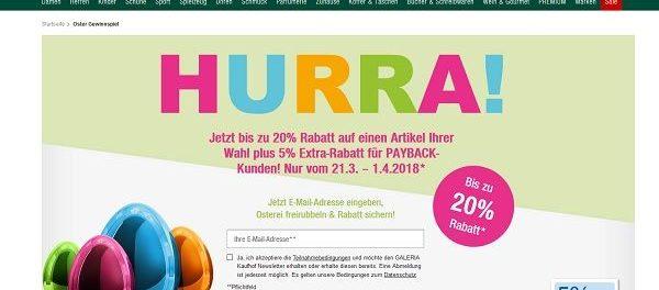 Galeria Kaufhof Oster-Gewinnspiel 2018