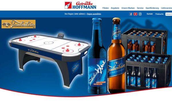Getränke Hoffmann und Frankenheim Gewinnspiel Airhockey-Tische