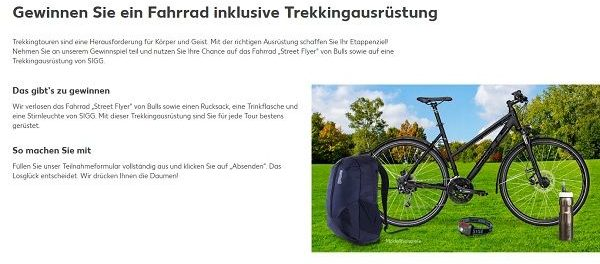 Kaufland Trekkingbike Gewinnspiel 2018