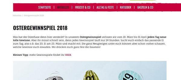 Kribbelbunt Oster-Gewinnspiel 2018 tägliche Gewinne