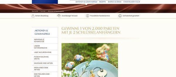 Lindt Oster-Gewinnspiel 2018