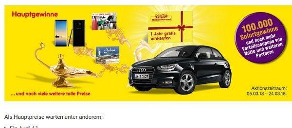 Netto Deutschland Card Auto Gewinnspiel Audi A1