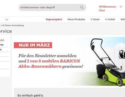 QVC Gewinnspiel Akku Rasenmäher 2018