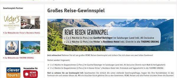 REWE Reisen Gewinnspiel Urlaub Salzburger Land