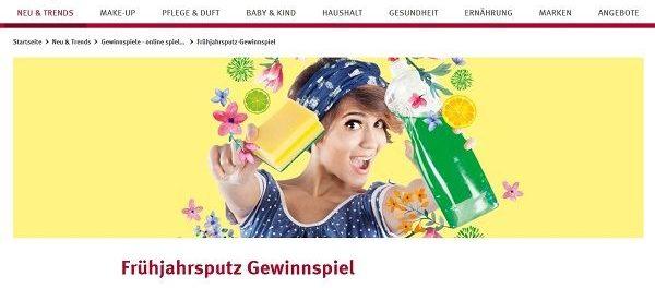 Rossmann Gewinnspiel Frühjahrsputz Gutschein