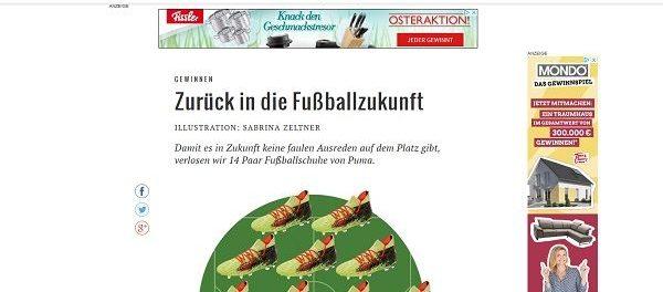Süddeutsche Zeitung Gewinnspiel 14 Paar Fusßballschuhe