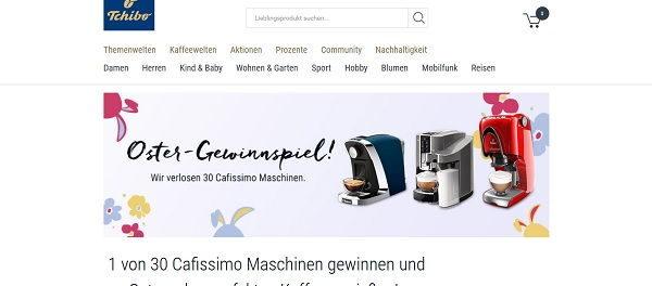 Tchibo Oster-Gewinnspiel 30 Cafissimo Maschinen