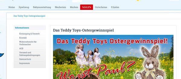 Teddy Toys Oster-Gewinnspiel 2018