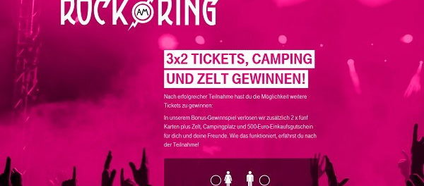 telekom rock am ring gewinnspiel tickets und campingausr stung. Black Bedroom Furniture Sets. Home Design Ideas