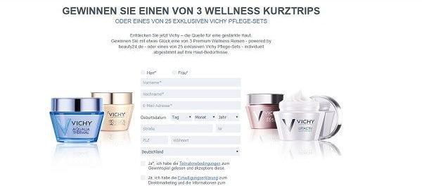 Vichy Gewinnspiel Wellness Kurtrips 2018