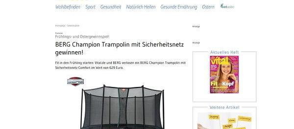 Vital Magazin Gewinnspiel Berg Trampolin