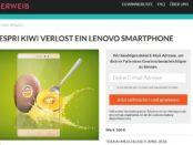 Wunderweib Gewinnspiel Lenovo Smartphone Zespri Kiwi