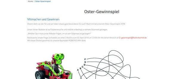 fischertechnik Oster-Gewinnspiel ROBOTICS Mini Bots Baukasten