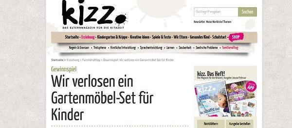 Kinder Gartenmöbel-Set Gewinnspiel Kizz Magazin