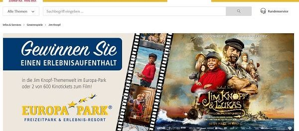 real Gewinnspiele Jim Knopf Europa Park 2018