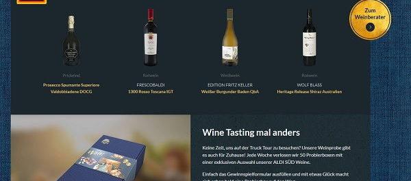 Aldi Süd Gewinnspiel Weinprobierboxen gewinnen