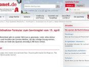 Aponet Gewinnspiel 500 Euro Bargeld und zweite Gewinnchance