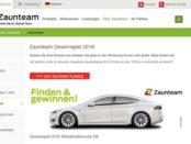 Auto Gewinnspiel Zaunteam Tesla Model S