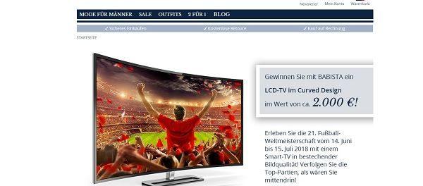 Babista Gewinnspiel Curved LCD-TV