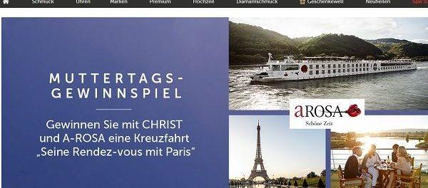Christ Muttertags-Gewinnspiel A-Rosa Kreuzfahrt Paris