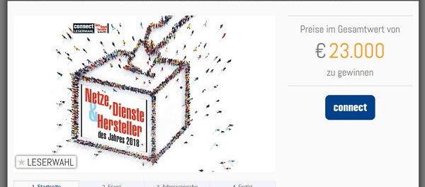 Connect Leserwahl 2018 Smartphone und Sachpreise Wert 23.000 Euro