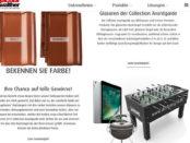 Dachziegel.de Gewinnspiel Apple iPad und Kickertisch