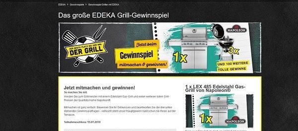 EDEKA Gewinnspiel LEX 485 Edelstahl Gas-Grill Napoleon