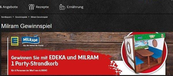EDEKA und Milram Gewinnspiel Party Strandkorb