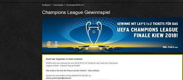 Edeka Gewinnspiel Lay´s UEFA Champions League Finale Kiew Reise