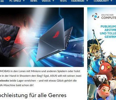 Gamestar Gewinnspiel Asus Gamer Notebook