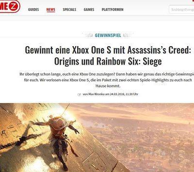 Gamez Gewinnspiel Xbox One S Assasins Creed